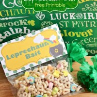 Leprechaun Bait Free Printable Bag Topper