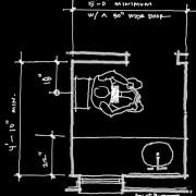 Modern toilet room layout