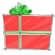 Christmas Present drawing