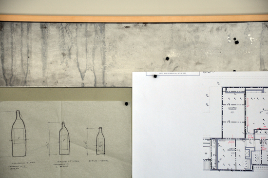 Architect's bulletin board