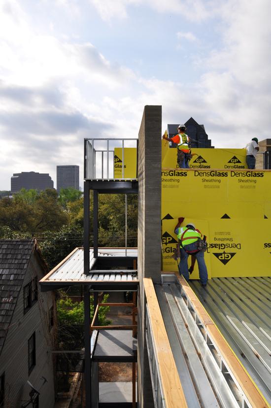 DensGlass installation at Roof