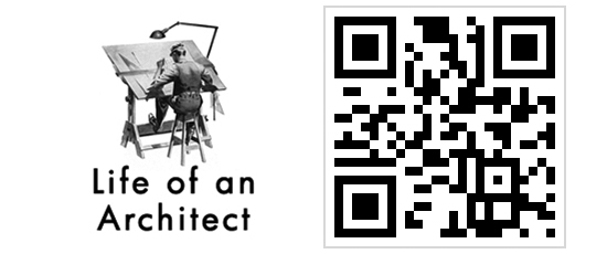 Life of an Architect Logo and QR Code