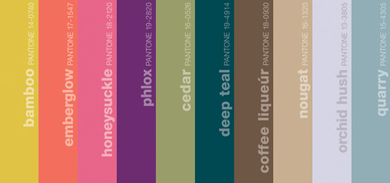 Pantone Fall 2011 Ladies Colors