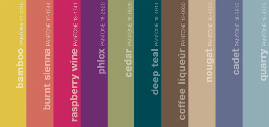 Pantone Fall 2011 Mens Colors