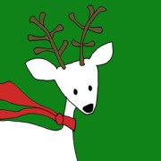 Reindeer cartoon sketch