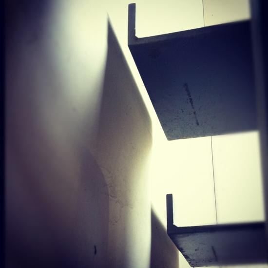 modern stairs metal pan detail