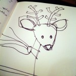 Reindeer sketch from Bob Borson