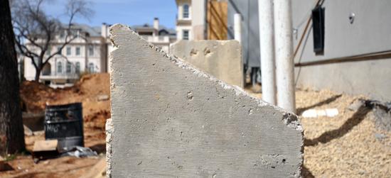 retaining wall edge detail