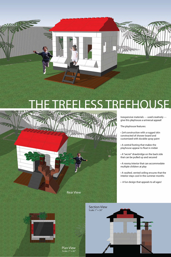 The Treeless treehouse by Katie and Ed Gorleski