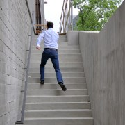 scott dancing up the stairs