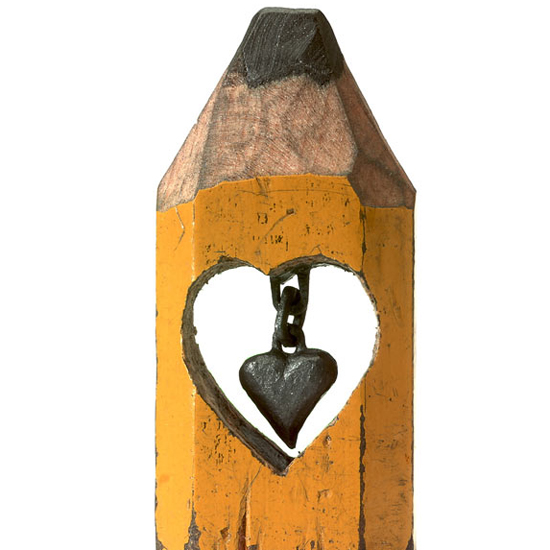 Dalton Ghetti pencil heart