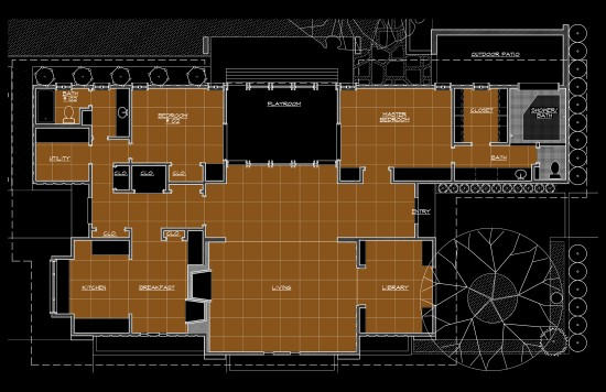 An Architects House - concrete floor scope plan