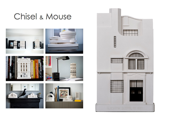 Chisel and Mouse Architectural Models collage