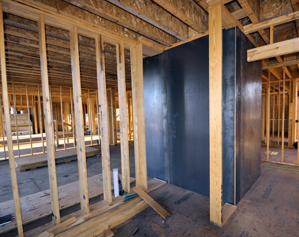 Tornado Room with steel plate walls 03