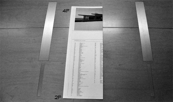 How to Fold an Architectural Drawing step four