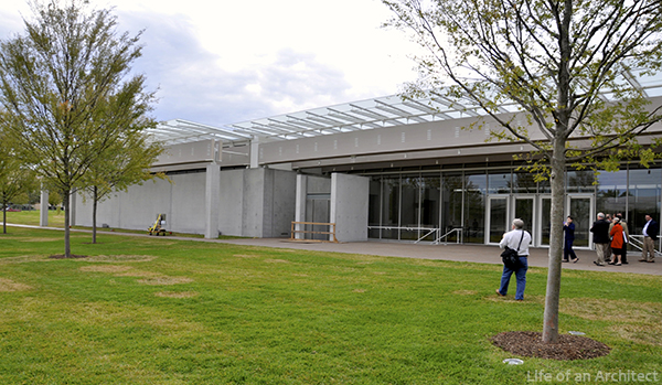 Renzo Piano Kimbell Museum Front Exterior