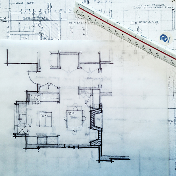 Architectural Sketch floor plan line weight
