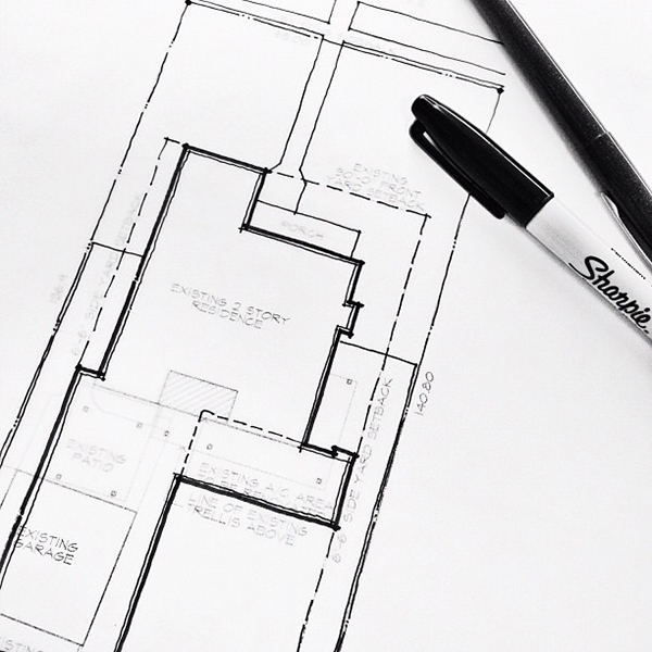 Architectural Sketch site plan drawing in layers