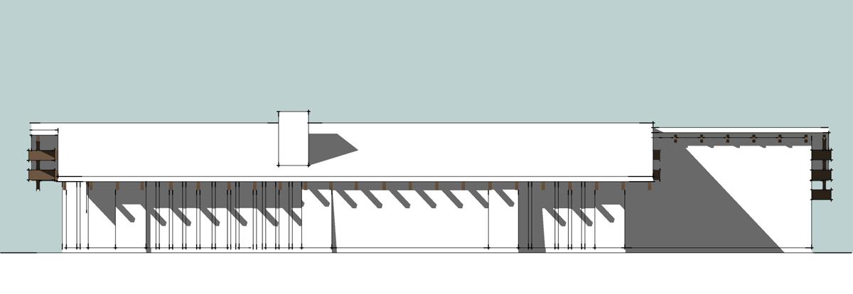 3D house model exterior preston elevation