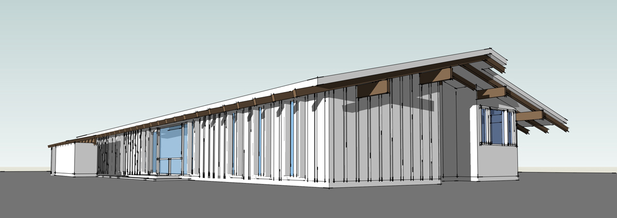 3D house model rear perspective 02