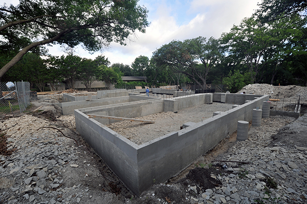 Pier and beam foundations khouse progress life of an for How long to build a house after foundation is poured