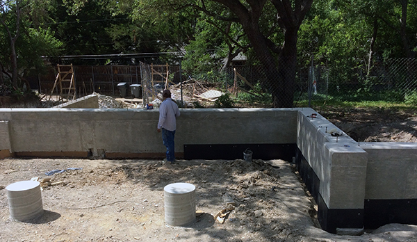 KHouse Modern soil retainer boards in place