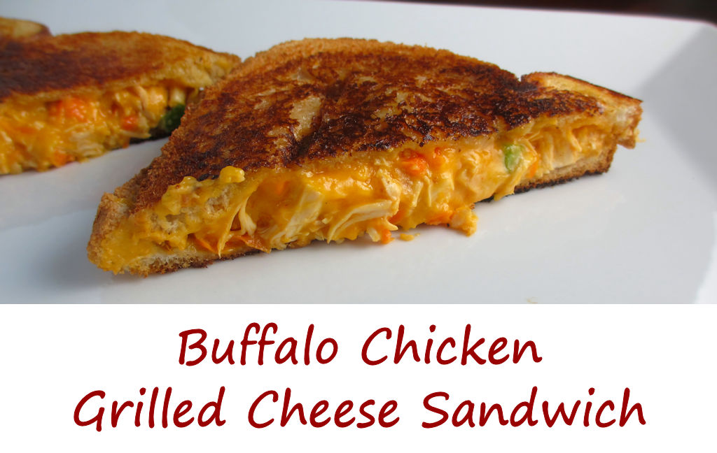 BBQ Chicken Grilled Cheese Sandwiches Recipe — Dishmaps