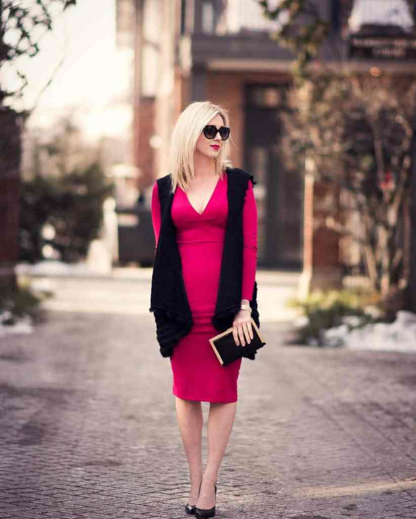 This raspberry red dress on the blog today Perfect forhellip