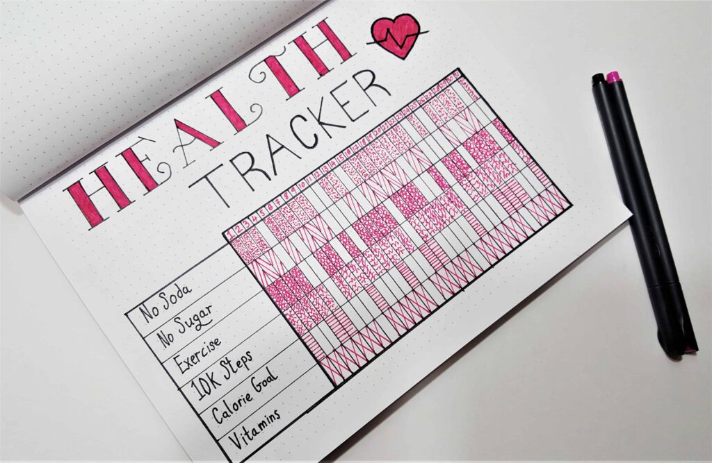 Weight Loss Tracker for Bullet Journal - Develop Healthy Habits!