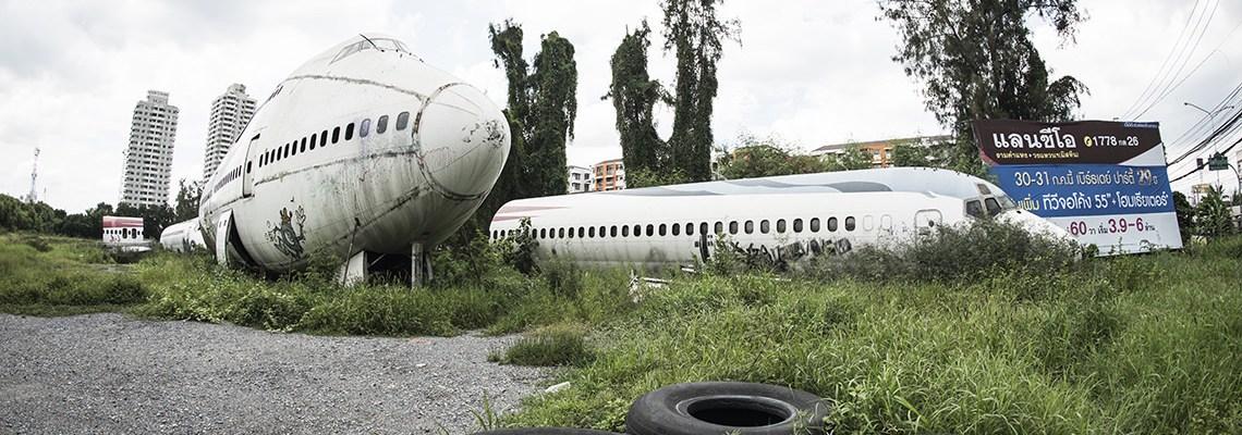 Reflections from Bangkok Airplane Graveyard