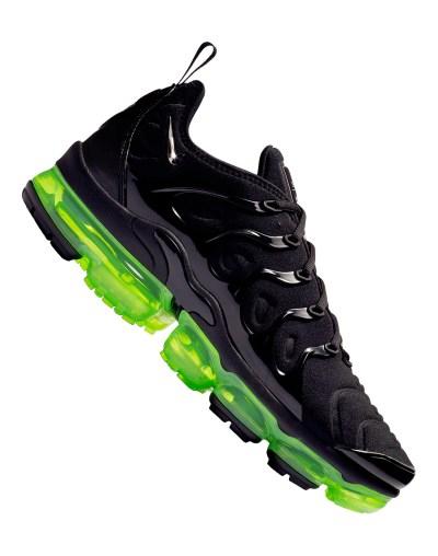Men's Black & Neon Green Nike Vapormax Plus | Life Style ...