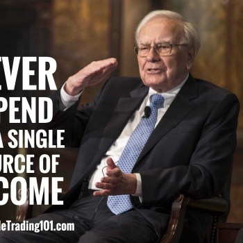 Never depend on a single source of income