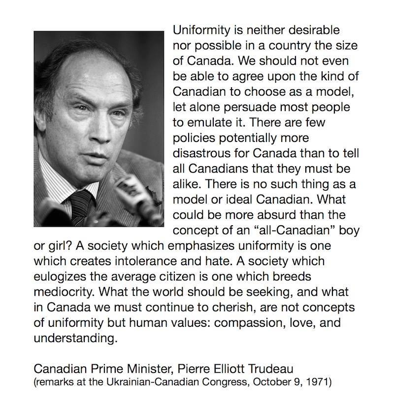 pierre trudeau on comformity