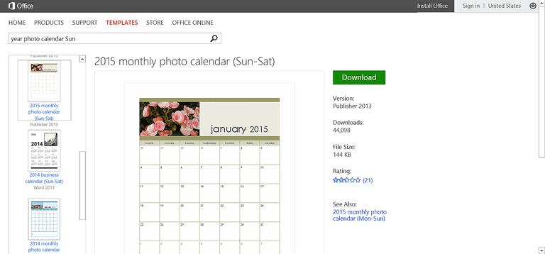 microsoft publisher calendar templates 2015