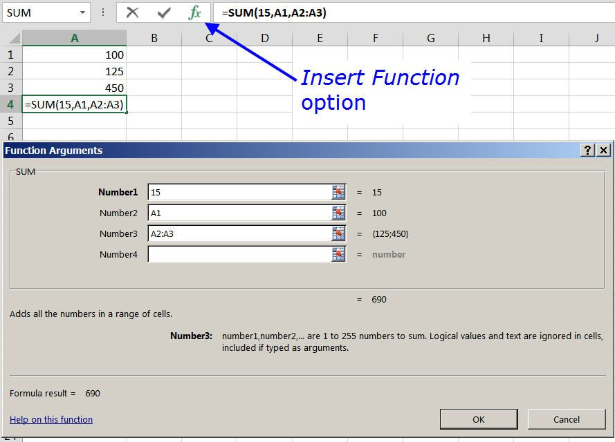 definition of function in excel