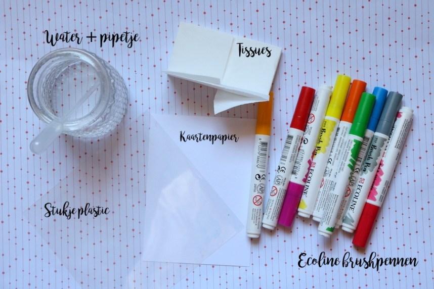 DIY, brushpennen, ecoline, kaarten, doityourself, lifewithanchors