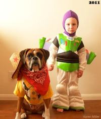 Boy and His Dog Dress to Match Every Halloween
