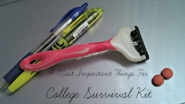 4 Most Important Things For College Survival Kit
