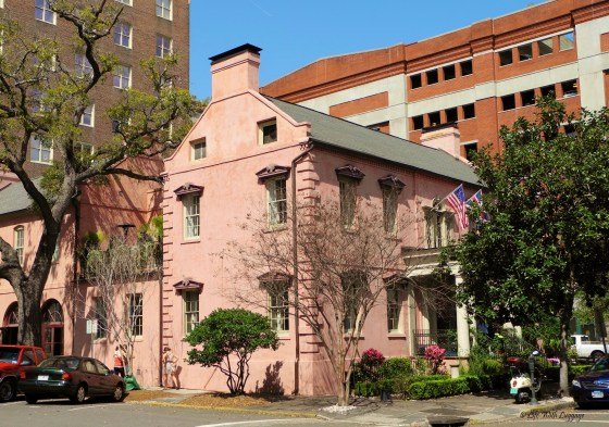 The Olde Pink House was built in 1789. It's now a restaurant and a popular spot for ghost hunters.