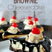 Hot Fudge Brownie Cheesecake