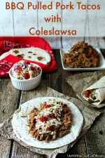 BBQ Pulled Pork Tacos with Coleslawsa #EasyCooking