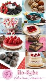 20 No-Bake Valentine Desserts