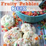 Fruity Pebbles Cookies, yum!