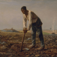 """Millet - """"Man With a Hoe"""" (1863)"""