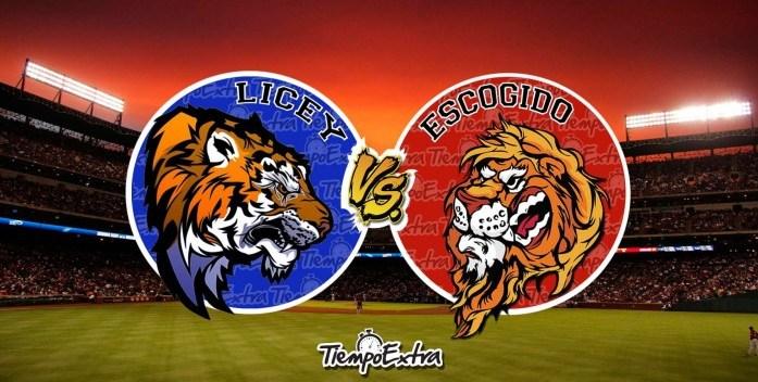 Escogido vs Licey en apertura béisbol en la Capital