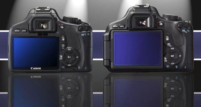 Rear View Comparison of Canon T2i and T3i