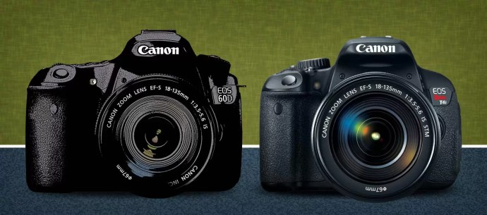 Canon t4i vs 60D Comparison