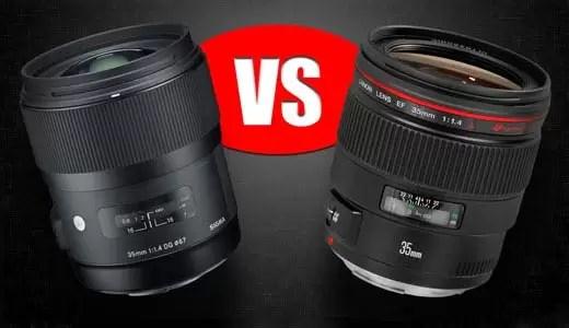 Sigma 35mm f/1.4 vs Canon 35mm