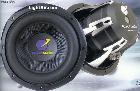 Planet Audio Subwoofers @ LightAV 877 390-1599 planet,audio