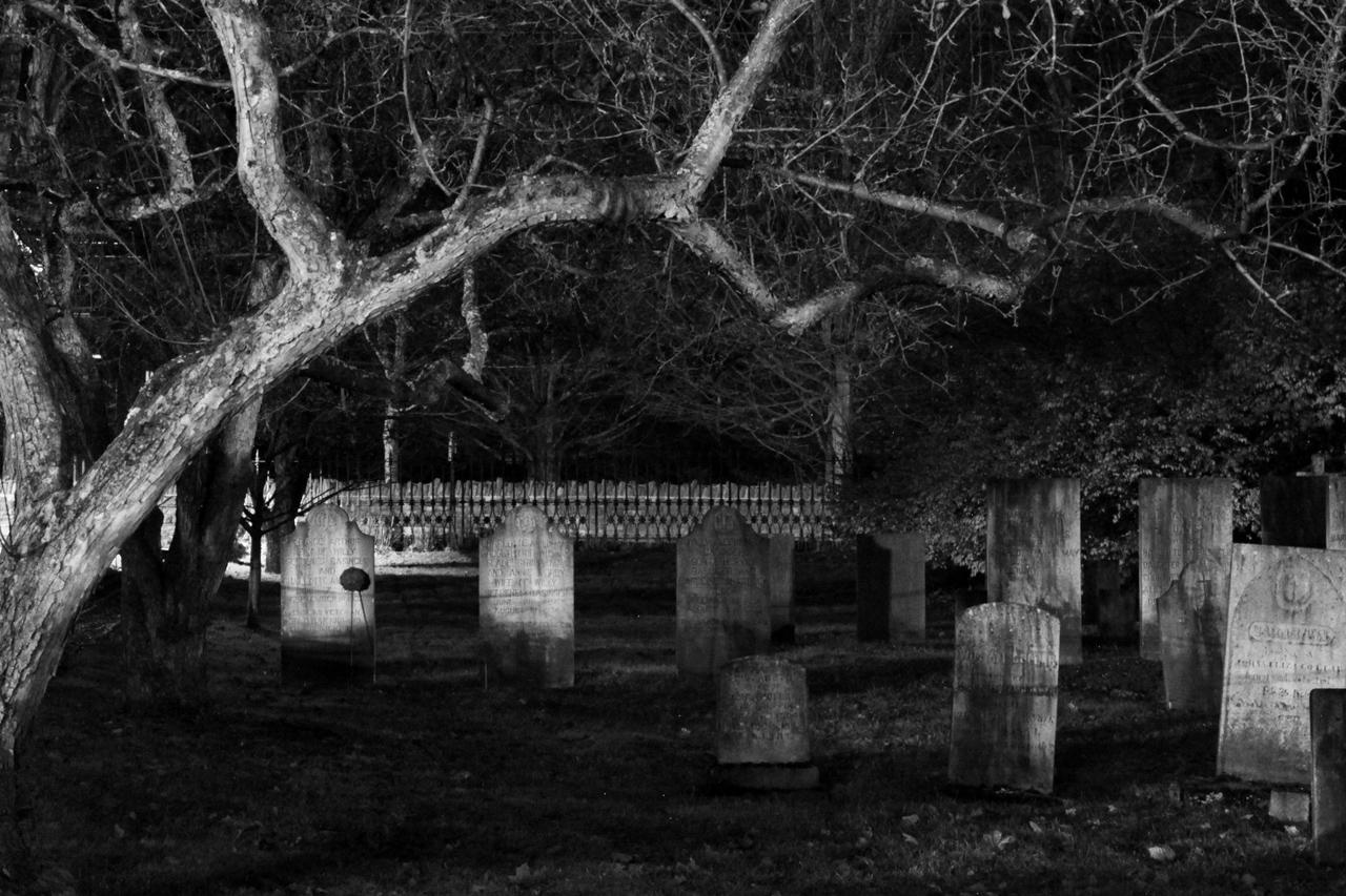 Cemetery at Night 2   The Lightbin